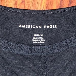 American Eagle Outfitters Tops - Black Tank With Lace Accents